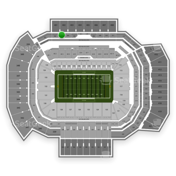 Texas A&M Aggies Football at Kyle Field Section 303 View