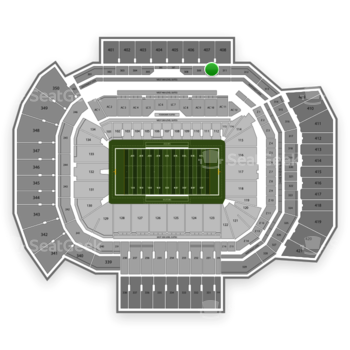 Texas A&M Aggies Football at Kyle Field Section 310 View