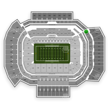 Texas A&M Aggies Football at Kyle Field Section 314 View