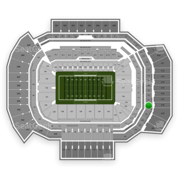 Texas A&M Aggies Football at Kyle Field Section 324 View