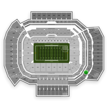 Texas A&M Aggies Football at Kyle Field Section 326 View