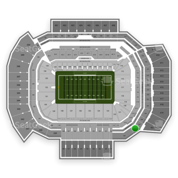 Texas A&M Aggies Football at Kyle Field Section 328 View