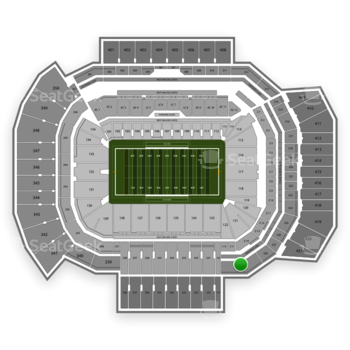 Texas A&M Aggies Football at Kyle Field Section 329 View
