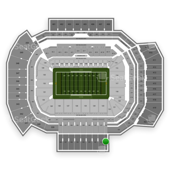 Texas A&M Aggies Football at Kyle Field Section 330 View