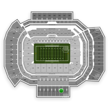 Texas A&M Aggies Football at Kyle Field Section 332 View