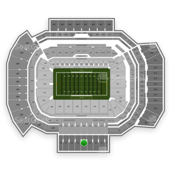 Texas A&M Aggies Football at Kyle Field Section 334 View