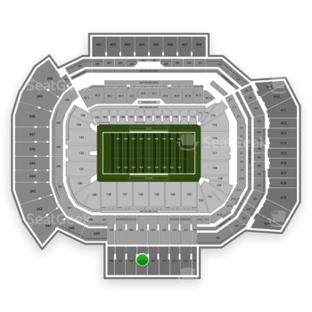 Texas A&M Aggies Football at Kyle Field Section 335 View