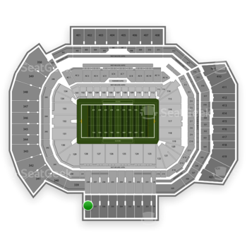 Texas A&M Aggies Football at Kyle Field Section 338 View
