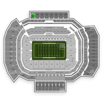 Texas A&M Aggies Football at Kyle Field Section 401 View