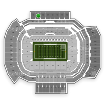 Texas A&M Aggies Football at Kyle Field Section 402 View