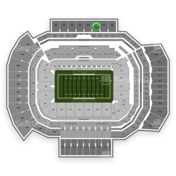 Texas A&M Aggies Football at Kyle Field Section 406 View