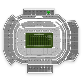 Texas A&M Aggies Football at Kyle Field Section 407 View