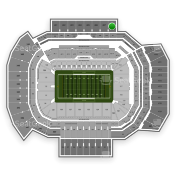 Texas A&M Aggies Football at Kyle Field Section 408 View