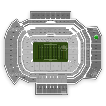 Texas A&M Aggies Football at Kyle Field Section 411 View