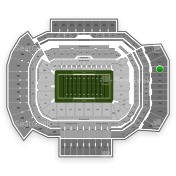 Texas A&M Aggies Football at Kyle Field Section 412 View