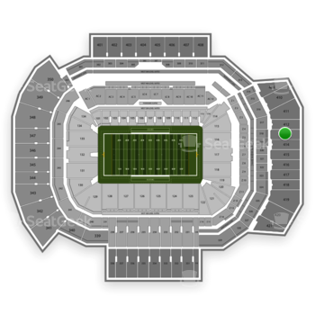 Texas A&M Aggies Football at Kyle Field Section 413 View