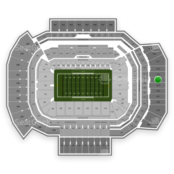 Texas A&M Aggies Football at Kyle Field Section 414 View