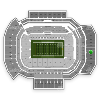 Texas A&M Aggies Football at Kyle Field Section 416 View