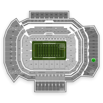 Texas A&M Aggies Football at Kyle Field Section 418 View