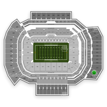 Texas A&M Aggies Football at Kyle Field Section 420 View