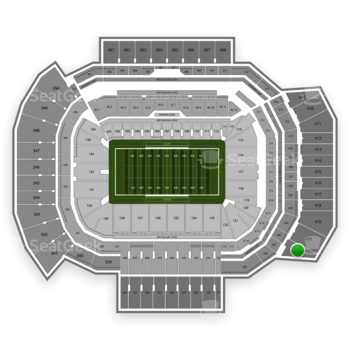 Texas A&M Aggies Football at Kyle Field Section 421 View