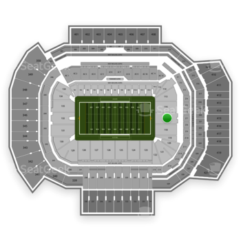 Texas A&M Aggies Football at Kyle Field Section 117 View