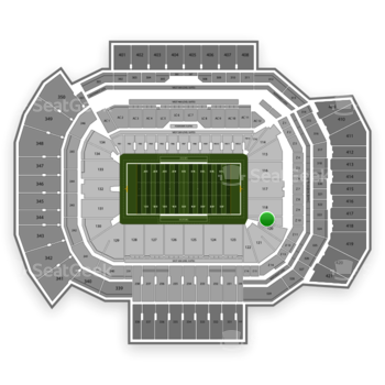 Texas A&M Aggies Football at Kyle Field Section 119 View