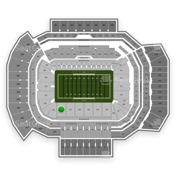 Texas A&M Aggies Football at Kyle Field Section 128 View