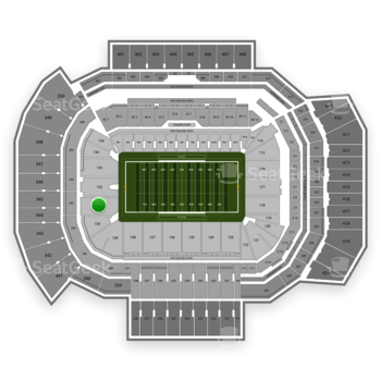 Texas A&M Aggies Football at Kyle Field Section 131 View