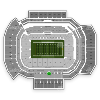 Texas A&M Aggies Football at Kyle Field Section 234 View