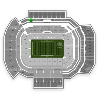 Texas A&M Aggies Football at Kyle Field Section 302 View