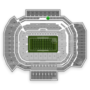 Texas A&M Aggies Football at Kyle Field Section 308 View