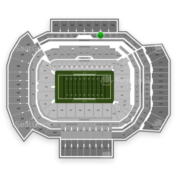 Texas A&M Aggies Football at Kyle Field Section 309 View