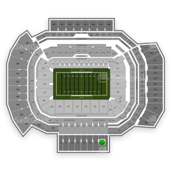 Texas A&M Aggies Football at Kyle Field Section 331 View