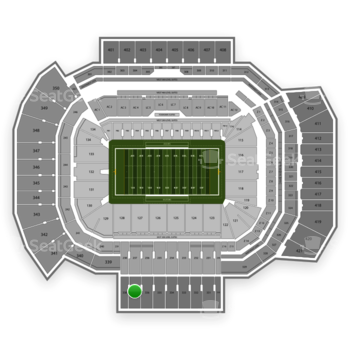Texas A&M Aggies Football at Kyle Field Section 337 View