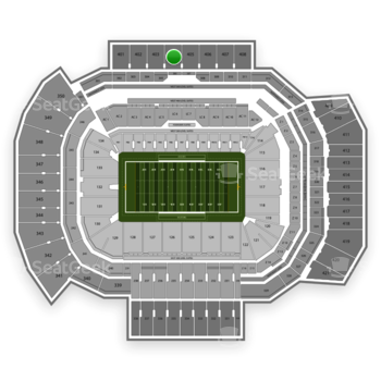 Texas A&M Aggies Football at Kyle Field Section 404 View