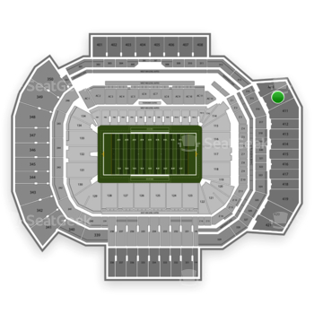 Texas A&M Aggies Football at Kyle Field Section 410 View