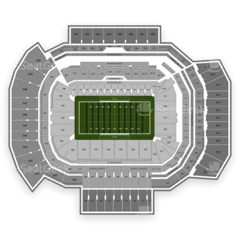 Texas A&M Aggies Football at Kyle Field Section 424 View