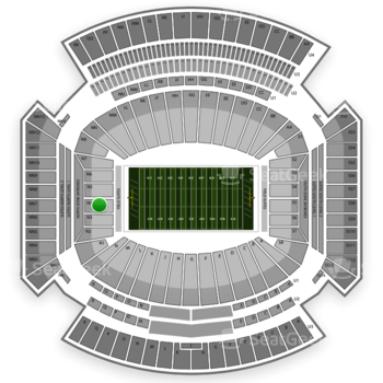 Alabama Crimson Tide Football at Bryant-Denny Stadium Lower Level N 4 View