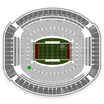 Alabama Crimson Tide Football at Bryant-Denny Stadium Aa View