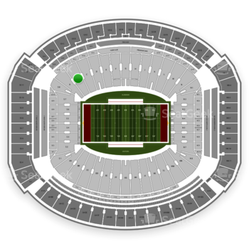 Alabama Crimson Tide Football at Bryant-Denny Stadium B View