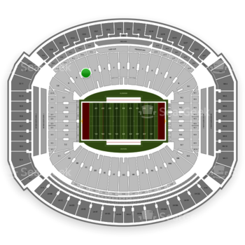 Alabama Crimson Tide Football at Bryant-Denny Stadium C View