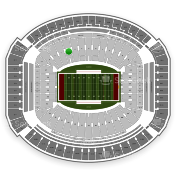 Alabama Crimson Tide Football at Bryant-Denny Stadium D View