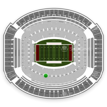 Alabama Crimson Tide Football at Bryant-Denny Stadium Ee View