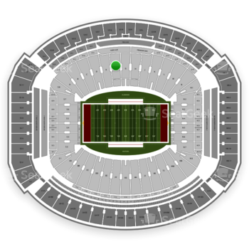 Alabama Crimson Tide Football at Bryant-Denny Stadium F View