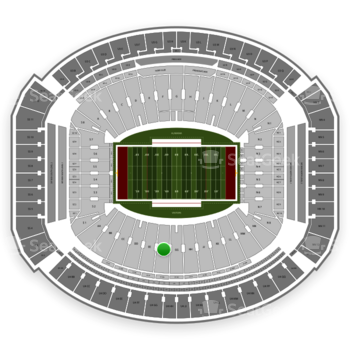 Alabama Crimson Tide Football at Bryant-Denny Stadium Ff View