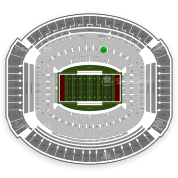 Alabama Crimson Tide Football at Bryant-Denny Stadium J View