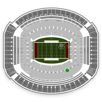 Alabama Crimson Tide Football at Bryant-Denny Stadium Ll View