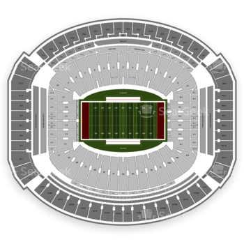 Alabama Crimson Tide Football at Bryant-Denny Stadium Lower Level N 6 View