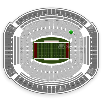Alabama Crimson Tide Football at Bryant-Denny Stadium M View
